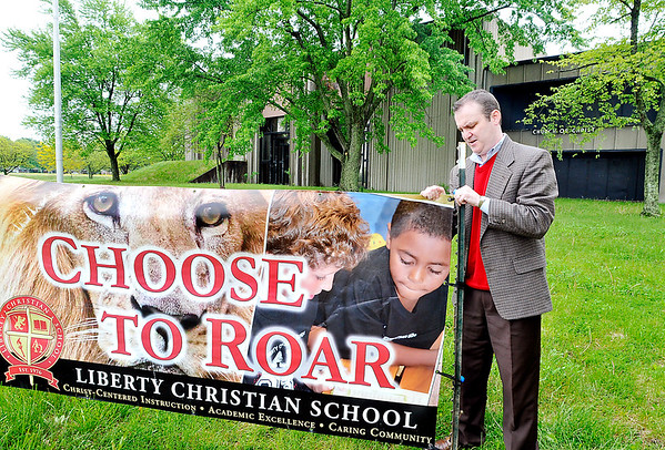 John P. Cleary |  The Herald Bulletin<br /> Dr. Jay McCurry says this 60,000 square-foot building at 2625 Lindberg Road, that once was home to Anderson Christian School, will nearly double the size for Liberty Christian's high school. School officials are finalizing the purchase of the building.