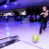 Don Knight | The Herald Bulletin<br /> Demari Wills releases the ball down the lane as Anderson Elementary students went bowling at Championship Lanes on Friday.