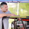 Don Knight | The Herald Bulletin<br /> Tony Stewart in the pits at the Anderson Speedway after rain canceled Wednesday's practice. Practice will begin today at 11 a.m. with qualifying to start at 2:15 p.m.