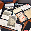 John P. Cleary    The Herald Bulletin<br /> Greg Frolke goes over photos and letters belonging to his father Darrell Frolke, pictured, during WWII that Richard Petty got from an old storage locker he bought at auction than tracked down the family.