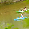 Don Knight | The Herald Bulletin<br /> Kayakers paddle down the White River past Mounds State Park on Wednesday.