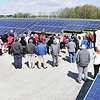 John P. Cleary |  The Herald Bulletin<br /> The Indiana Municipal Power Agency, along with local and state government officials opened the Anderson 1 Solar Park Tuesday. The 35 acre, 5 Megawatt solar farm on Park Road can provide enough power for about 500 homes.