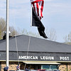 John P. Cleary |  The Herald Bulletin<br /> A new American flag was raised at Chesterfield American Legion Post 408 Saturday during a reopening celebration for the post which had been shut down since last October.