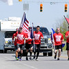 Don Knight | The Herald Bulletin<br /> The Indiana Run for the Fallen travels west on Ind. 32 on Saturday. The run started on Friday at the Allen County War Memorial and will finish on Sunday at the Veterans Memorial Plaza in Indianapolis.