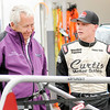 Don Knight | The Herald Bulletin<br /> Anderson Speedway owner Rick Dawson talks to driver Kyle Hamilton in the pits during practice for the Little 500 on Thursday.
