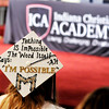 John P. Cleary |  The Herald Bulletin<br /> Indiana Christian Academy Graduate Madison Edgreen had this message on her graduation cap Friday evening.