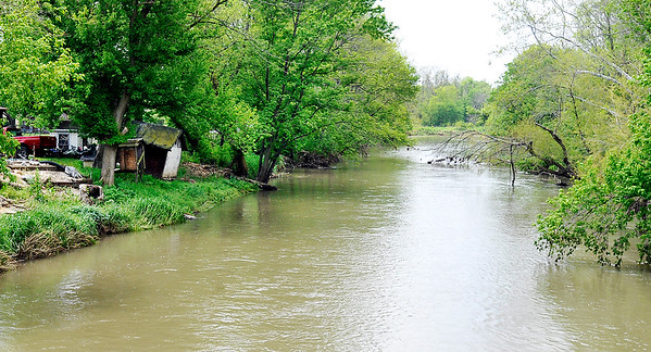 John P. Cleary |  The Herald Bulletin<br /> This is the area along Fall Creek, west of County Road 650 West, where a search was conducted for Zachary Sanner who reportedly had fallen in to the creek late Tuesday. Sanner's body was found about 100 yards down stream from where he fell in.