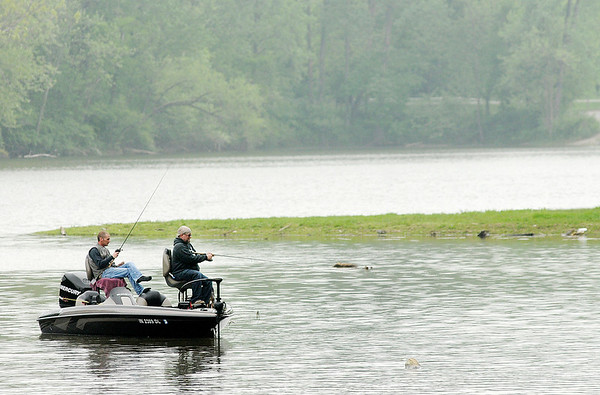 Don Knight   The Herald Bulletin<br /> Anglers fish at Shadyside lake on Saturday. Saturday was the second of Indiana's four Free Fishing Days when you can fish without a license. The final two days for this year are June 3rd and 4th.