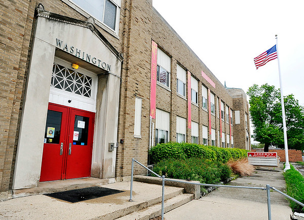 John P. Cleary    The Herald Bulletin<br /> Liberty Christian High School is located in this 83-year-old building that once was the old Washington Elementary School located at 2323 Columbus Ave.