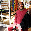 Don Knight | The Herald Bulletin<br /> Elder Willie Fuller was first in line waiting for ALDI to reopen after a five week remodel on Thursday. Fuller arrived at 7:30 that morning.