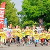 Don Knight | The Herald Bulletin<br /> Kids take off at the start of the St. Vincent-YMCA Kidz Marathon at Anderson University on Saturday.