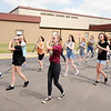 Don Knight | The Herald Bulletin<br /> The Alexandria-Monroe High School Band practices to be part of the Madison County combined band that will march in the 500 Festival Parade in Indianapolis this weekend.