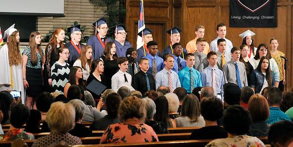 John P. Cleary | The Herald Bulletin<br /> Indiana Christian Academy graduation.