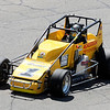 Don Knight | The Herald Bulletin<br /> Davey Hamilton Jr. takes the pole position for the Little 500 with a four-lap time of 44.925 seconds at the Anderson Speedway on Thursday. Hamilton qualified early on Thursday for the Indy Lights race at the Indianapolis Motor Speedway and then helicoptered to Anderson Speedway.