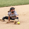 Chris Martin | For The Herald Bulletin<br /> Lapel's Addie Bailey dives to make a play at 3rd base Saturday at home in the first game of a doubleheader against Shenandoah.