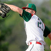 Don Knight | The Herald Bulletin<br /> Anderson's Jacob Morris pitches for the Indians as they face the Pendleton Heights Arabians at Bill Stoudt Field on Wednesday.