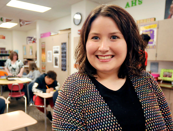 John P. Cleary | The Herald Bulletin  <br /> Anderson University senior Lauren Vale does student teaching at Anderson High School and will graduate Saturday with at 4.0 GPA.
