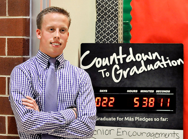 John P. Cleary | The Herald Bulletin<br /> Anderson High School senior class president Noah Bozell as spearheaded fundraising efforts to help cover the cost of this year's commencement ceremony.