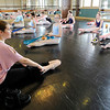 Don Knight | The Herald Bulletin<br /> Jayma Lallathin leads dancers at the Anderson Young Ballet Theatre through a series of exercises on Wednesday.