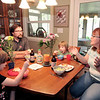 John P. Cleary | The Herald Bulletin<br /> The Greenland family, Khloe, 6, AJ, Aubree ,5, and Tiffany have dinner together as a family.