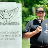 John P. Cleary | The Herald Bulletin<br /> Operation Iraqi Freedom veteran Larry Hammer spoke at the annual Memorial Day remembrance service Monday at Maplewood Cemetery.