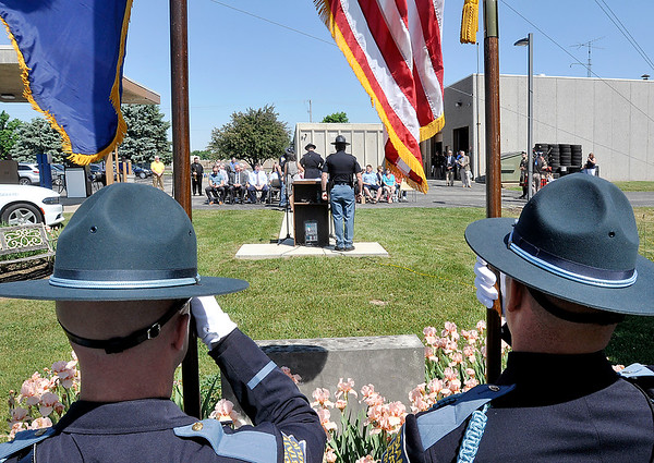 John P. Cleary   The Herald Bulletin<br /> The Indiana State Police Pendleton District held its annual memorial service Thursday remembering the 46 ISP employees who lost their lives in the line of duty.