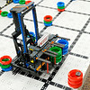 Don Knight | The Herald Bulletin<br /> The Frankton Cyborgs VEX Robotics team demonstrate their robot on Friday. The team recently competed in the World Championships in Louisville.