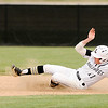 Don Knight | The Herald Bulletin<br /> Lapel's Wilson Satchell steals second as the Bulldogs hosted the Sheridan Blackhawks on Friday.