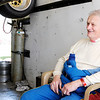 Don Knight | The Herald Bulletin<br /> Jeff Bloom sits down for an interview in his race trailer during a break from practice for the Little 500 at the Anderson Speedway on Wednesday. Bloom has won the race three times.