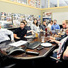 John P. Cleary | The Herald Bulletin<br /> Mike Montgomery and the krM Architecture design team get together each Friday over lunch to critique projects they are working on.