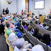 Don Knight | The Herald Bulletin<br /> The city council chambers were full for a third reading for changes to the city's animal control ordinance on Thursday. The ordinance passed with an amendment prohibiting people from keeping animals in abandoned homes or lots.