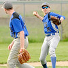 Don Knight | The Herald Bulletin<br /> APA's Jack Scott makes the throw to first after fielding the ball as the Jets faced Liberty Christian on Friday.