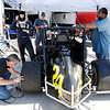Don Knight | The Herald Bulletin<br /> JoJo Helberg prepares for a run on the track as the Spies Racing team makes adjustments to the 24 car during practice for the Little 500 at the Anderson Speedway on Wednesday.