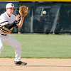 Don Knight | The Herald Bulletin<br /> Daleville's Max Stecher fields the ball as the Broncos hosted the Lapel Bulldogs on Thursday.