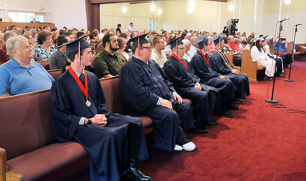 John P. Cleary   The Herald Bulletin<br /> Indiana Christian Academy graduation.