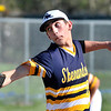 John P. Cleary | The Herald Bulletin<br /> Shenandoah's pitcher Hadden Myers eyes the plate as he throws the ball.