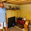Don Knight | The Herald Bulletin<br /> David and Barbara Lynch joked that the little room in the corner of their basement was a fallout shelter. According to old newspaper clippings it was.