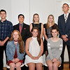 John P. Cleary | The Herald Bulletin<br /> These are the nominees for the 50th anniversary Red Haven Memorial Award.<br /> Front row L to R: Megan Moran, Anderson High; Blaine Kelly, Alexandria; and Kate Cowger, Pendleton Hts. Back row L to R: Solomon Truitt, Liberty Christian; Aaron Litherland, Elwood; Megan Simmet, APA; Anna Sperry, Frankton; and Joseph Conrad, Lapel. Blaine Kelly, of Alexandria was named this year's winner of the Red Haven Memorial Award.