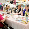 Don Knight | The Herald Bulletin<br /> From left, Janet Moore, Darlene Williams, Susan Williams and VAda Hancock chat as they enjoy their tea during Queen for a Day at Florida Station Church of God on Saturday. The event is a fundraiser for Lil Miracles.