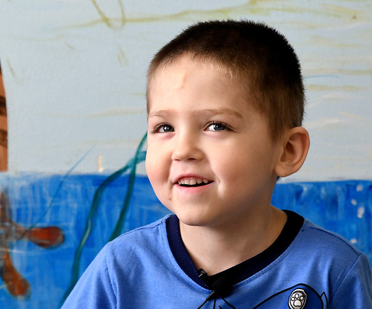 John P. Cleary | The Herald Bulletin <br /> Children at Gateway daycare talk about their mothers for a Mother's Day feature. Here Zachary Cook, 4, talks about his mother.