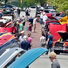 John P. Cleary | The Herald Bulletin <br /> The hoods were up along Meridian Street for the Little 500 Festival Hot Rod and Classics car show Saturday in downtown Anderson. About 100 cars were on display at the show that benefited the Madison County Historical Society.