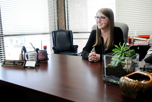 Don Knight | The Herald Bulletin<br /> When Olivia Pratt won election as Madison County Clerk in 2018 she was the youngest person to hold that position in Indiana.