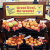 John P. Cleary | The Herald Bulletin <br /> The Zero Hunger-Zero Waste program at Pay Less. This is a display in the middle of the produce section that displays the reduced prices items that have been sorted out. The quality, and nutritional value of the food items are still good.