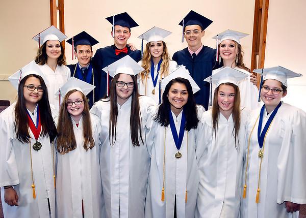 John P. Cleary | The Herald Bulletin <br /> Indiana Christian Academy 2019 graduation.