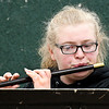 John P. Cleary | The Herald Bulletin <br /> Flutist Sophie Brobst, 17, says she had to acquire a new set of muscle memory in order to play the fife.