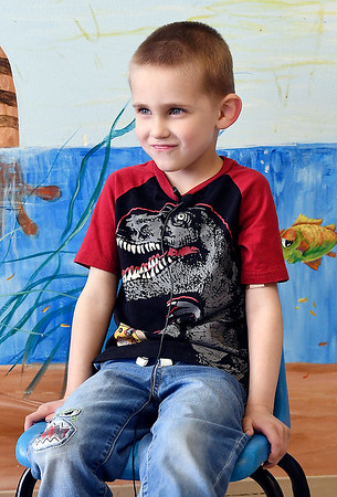 John P. Cleary | The Herald Bulletin <br /> Children at Gateway daycare talk about their mothers for a Mother's Day feature. Here Kamdyn Stewart, 5, talks about his mother.