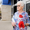Don Knight | The Herald Bulletin<br /> Post 127 Auxiliary member Sandy Vaughn accepts donations for creppe-paper poppies outside the Anderson Walmart on Friday. Poppies become a symbol for veterans sacrifice in WWI. All donations are devoted to rehabilitation and assistance for veterans and their families.