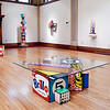 "John P. Cleary | The Herald Bulletin <br /> Todd Gray ""Pop Geometry"" exhibit at the Anderson Museum of Art covers two galleries in the museum."