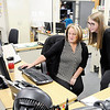 Don Knight | The Herald Bulletin<br /> Madison County Clerk Olivia Pratt talks with Angie Williams in the Clerk's office on Monday.