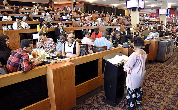 John P. Cleary | The Herald Bulletin <br /> The Anderson Chapter Indiana Black Expo 2019 Corporate Luncheon was held Thursday at Hoosier Park Racing & Casino honoring hometown heroes, Anderson's fighters & boxers.